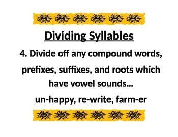 Dividing Syllables 4