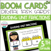 Dividing Unit Fractions BOOM CARDS™ Digital Task Cards