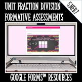 Dividing Unit Fractions DIGITAL TASK CARDS Google Classroom