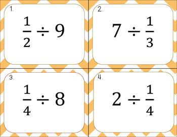 Dividing Unit Fractions Task Cards