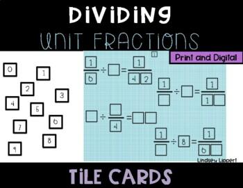 Dividing Unit Fractions Tile Cards