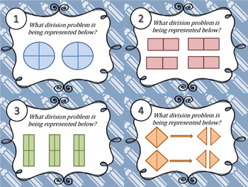Dividing Unit Fractions&Whole Numbers Task Cards Set1 5.3L & 5.3J & CCS 5.NF.B.7