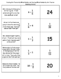 Dividing Unit Fractions and Whole Numbers Matching Activity