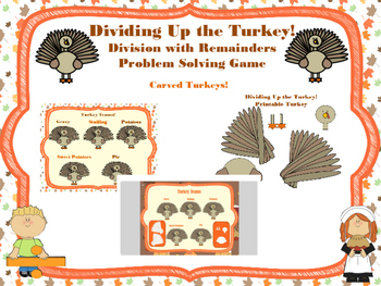 Dividing Up the Turkey Interactive White Board Division Game