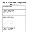 Dividing Using Partial Quotients: Scaffold Sheet