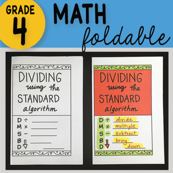 Math Doodle - Dividing Using the Standard Algorithm ~ INB Foldable Notes ~