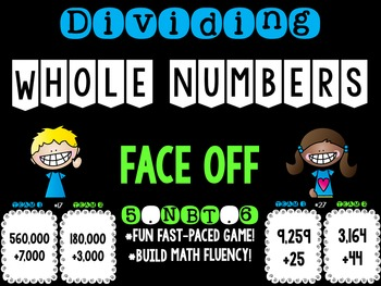 Dividing Whole Numbers 5.NBT.6 Face Off