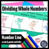 Dividing Whole Numbers Cut and Paste Activity 4.NBT.6
