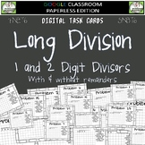 Dividing Whole Numbers DIGITAL TASK CARDS Google Classroom