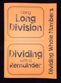 Dividing Whole Numbers (Foldable)