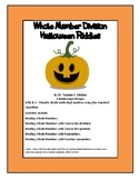 Dividing Whole Numbers - Halloween Riddles