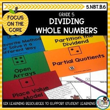 Dividing Whole Numbers: Math Learning Bundle