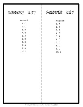 Dividing Whole Numbers Quiz, Fourth Grade Division Assessment, 4.NBT.B.6