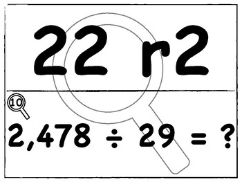 Dividing Whole Numbers Scavenger Hunt