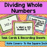 Dividing Whole Numbers Task Cards