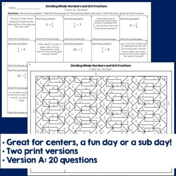 Dividing Whole Numbers and Unit Fractions