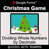 Dividing Whole Numbers by Decimals   Christmas Decoration