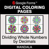 Dividing Whole Numbers by Decimals - Digital Mandala Color