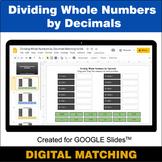 Dividing Whole Numbers by Decimals - Google Slides Distanc