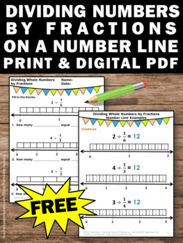 FREE Dividing Fractions Using Models Worksheets