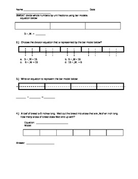 Dividing Whole Numbers by Unit Fractions Guided Lesson
