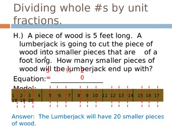 Dividing Whole Numbers by Unit Fractions Power Point