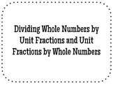 Dividing Whole Numbers by Unit Fractions and Unit Fraction