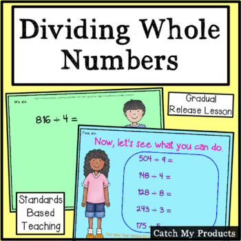 Dividing Whole Numbers for Promethean Board (3 Digit by 1 Digit)