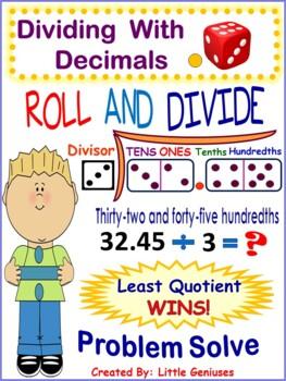 Dividing With Decimals ~ Hands-On Activities