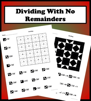 Dividing With No Remainders Color Worksheet