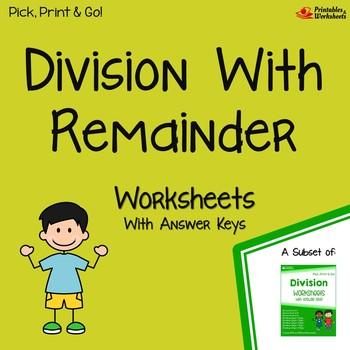 Dividing With Remainder Worksheets, Division With Remainder Quiz Test Prep