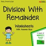 4, 3, 2 Digit Division With Remainders, Dividing Multi-Digit Numbers Activity