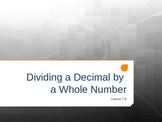 Dividing a Decimal by a Whole Number (5th Grade EnVision M