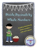 Dividing a Decimal by a Whole Number Notes and Fun Acitivity