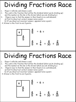 Fractions: Two Fractions Games (Division and Comparing)
