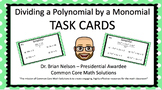 Dividing a Polynomial by a Monomial Task Cards