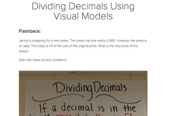 Dividing and Multiplying Decimals