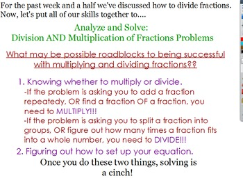 5.NF.6 & 5.NF.7 Dividing and Multiplying Fractions Flipchart