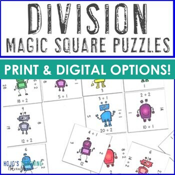 Division Games, Worksheet Alternatives, Math Centers, or Fluency Facts