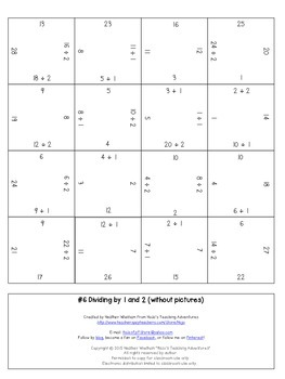 FREE Division Game, Activity, or Worksheet Alternatives {Math Fact Fluency}