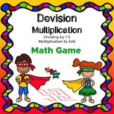 Dividing by 1-5 Multiplication to 5x5 Maze NO PREP!