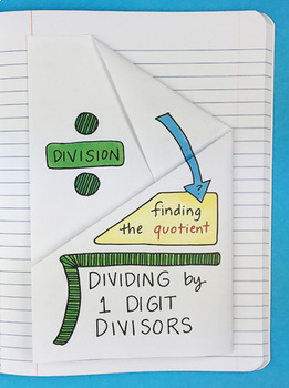 Dividing by 1 Digit Divisors Foldable by Math Doodles
