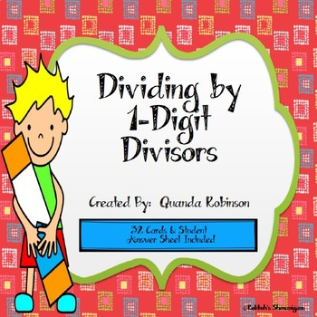 Dividing by 1-Digit Divisors Task Cards