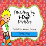 Dividing by 1-Digit Divisors Task Cards
