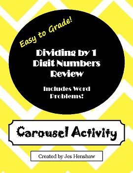 Dividing by 1 Digit Numbers CAROUSEL ACTIVITY