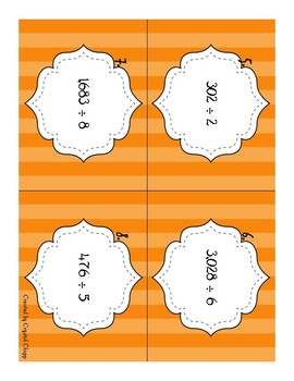 Dividing by 1-digit Task Cards