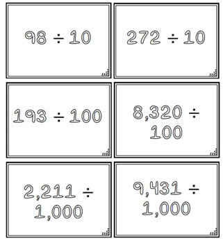 Dividing by 10, 100 and 1,000