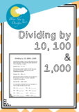 Dividing by 10, 100 and 1,000 Practice Sheets