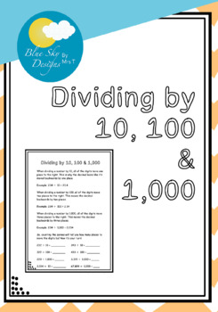 Dividing by 10, 100 & 1,000