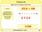 Dividing by 10, 100, 1000 for Elementary School Math